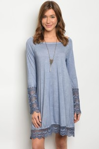 S11-14-2-D4180 BLUE CROCHET DRESS 2-2-2