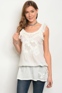 116-2-4-T6925 OFF WHITE TOP 1-1-4