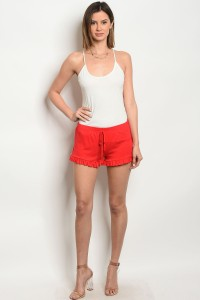 C74-B-2-S161 RED SHORTS 2-2-2