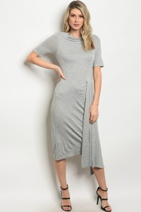 C89-A-4-D3565 HEATHER GRAY DRESS 2-2-2