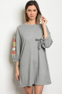 C91-A-3-D35312 HEATHER GRAY DRESS 2-2-2