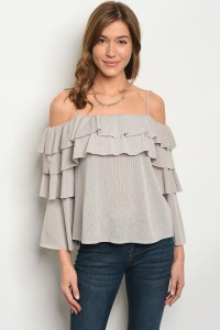 107-3-2-T707285 TAUPE TOP 2-2-2