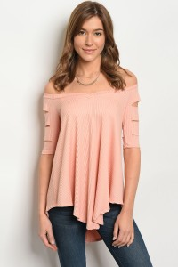 131-2-4-T711063 BLUSH OFF SHOULDER TOP 2-2-2
