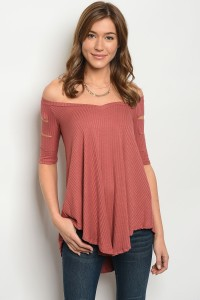 S13-3-1-T711063 MAUVE OFF SHOULDER TOP 2-2-2