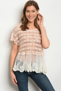 S4-1-1-T014 BLUSH IVORY TOP 2-2-2