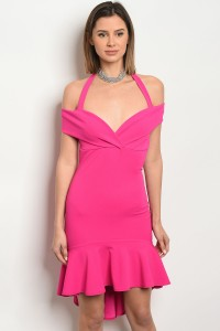 C62-A-3-D7005 FUCHSIA DRESS 2-2-2