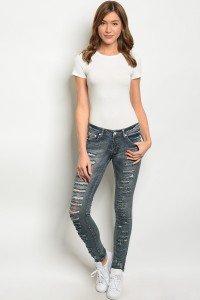 131-3-2-P1005 DARK DENIM PANTS 3-3-3-1