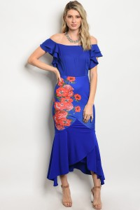 S8-12-1-D6302 ROYAL RED DRESS 2-2-2