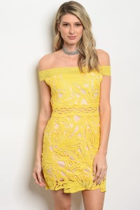 117-2-2-D00250 YELLOW DRESS 1-3-1