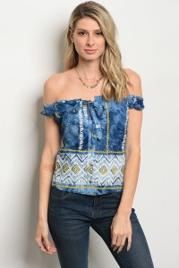 129-2-2-T7874 DARK BLUE TOP 2-2-2