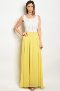 S15-1-5-D2315 IVORY YELLOW DRESS 2-2-2