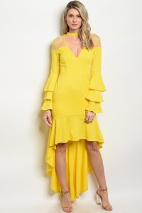 103-6-2-D07966 YELLOW DRESS 2-2-2