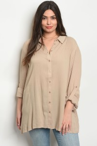 S13-3-5-D64454X MOCHA PLUS SIZE TOP 2-2-1
