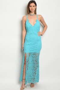 127-1-2-D80001 TURQUOISE DRESS 2-1-2