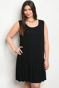 C17-A-6-D65100X BLACK PLUS SIZE DRESS 2-2-2