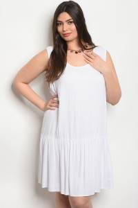C17-A-6-D65100X WHITE PLUS SIZE DRESS 2-2-2