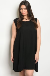 C18-A-2-D65142X BLACK PLUS SIZE DRESS 2-2-2