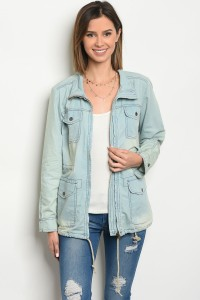 132-1-2-J202506 LIGHT DENIM SAFARI JACKET 2-2-2