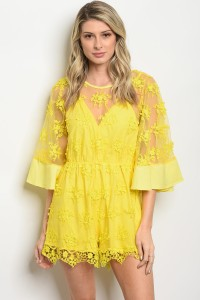 115-3-3-R03058 YELLOW ROMPER 1-2-2
