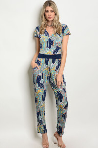 C4-A-1-J10233 NAVY MINT MULTI JUMPSUIT 2-2