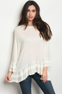 127-2-1-T3545 OFF WHITE TOP 2-2-2