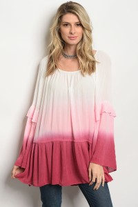 115-1-2-T3655 IVORY PINK TOP 2-2-2