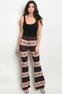 C91-A-1-P2156 BLACK CREAM PANTS 2-2