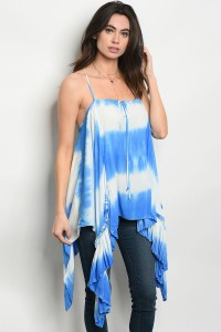 C12-A-1-T1263 IVORY BLUE TOP 3-4