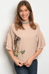112-2-4-T21261 TAUPE TOP 2-2-2