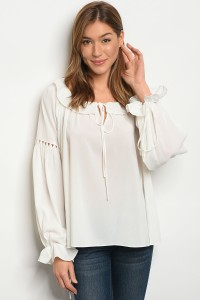 113-5-3-T21333 OFF WHITE TOP 2-2-2