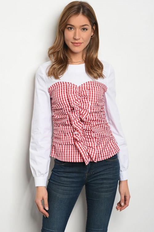 S10-18-3-T21506 WHITE RED TOP 2-2-2