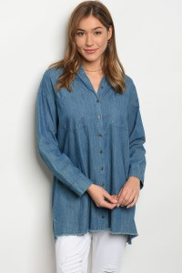 S12-6-1-D72556 BLUE DENIM TOP 2-2-2