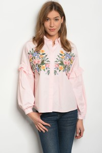 135-4-4-T21808 PINK WITH FLOWER TOP 2-2-2