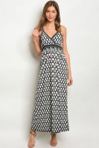 133-3-1-D8785 BLACK WHITE DRESS 1-2-3