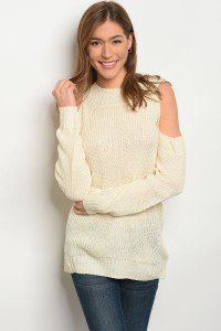 S9-14-2-S1710 CREAM LIGHT SPRING KNIT SWEATER 3-3