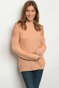 S11-5-4-S1710 PEACH LIGHT SPRING KNIT SWEATER 3-3
