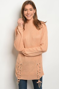 103-4-2-S1711 PEACH LIGHT SPRING KNIT SWEATER 3-3