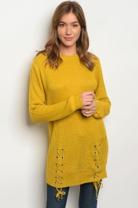 S2-4-5-S1711 MUSTARD LIGHT SPRING KNIT SWEATER 3-3