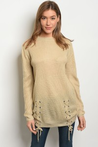 S2-5-2-S1711 BEIGE LIGHT SPRING KNIT SWEATER 3-3