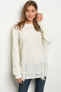 S13-3-1-S1711 IVORY LIGHT SPRING KNIT SWEATER 3-3