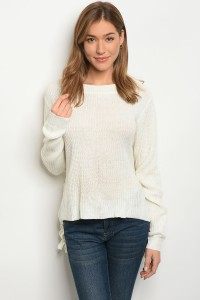 S2-6-4-S1703 IVORY LIGHT SPRING KNIT SWEATER 3-3