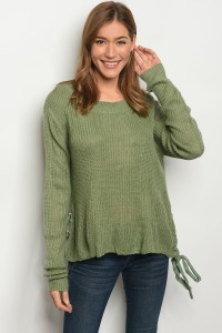 S2-7-1-S1703 SAGE LIGHT SPRING KNIT SWEATER 3-3
