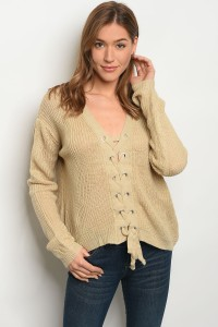 S3-4-3-S1708 BEIGE LIGHT SPRING KNIT SWEATER 3-3