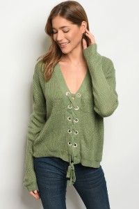 136-1-3-S1708 SAGE LIGHT SPRING KNIT SWEATER 3-3