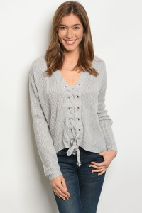 S3-5-4-S1708 GREY LIGHT SPRING KNIT SWEATER 3-3