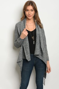S10-15-3-C14839 GREY CARDIGAN 2PCS