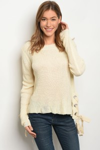 S15-11-5-S1703 CREAM SWEATER / 3PCS