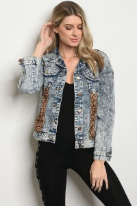 S11-5-4-J509 DENIM LEOPRAD JACKET 2-2-2