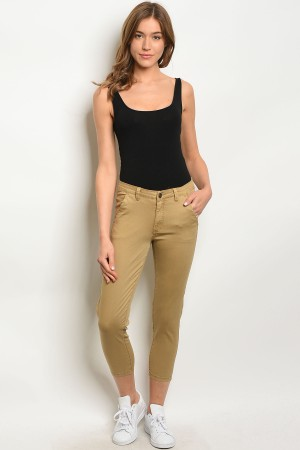 S7-1-1-P1021 KHAKI PLUS SIZE PANTS 3PCS