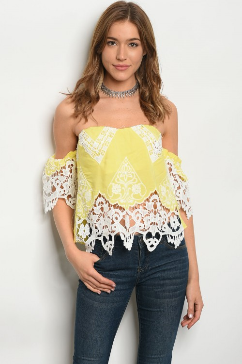 105-1-2-T30058 YELLOW WHITE TOP 2-2-2